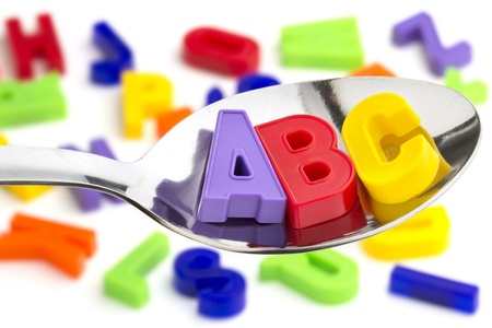 letters A, B, C, in a tablespoon  photo