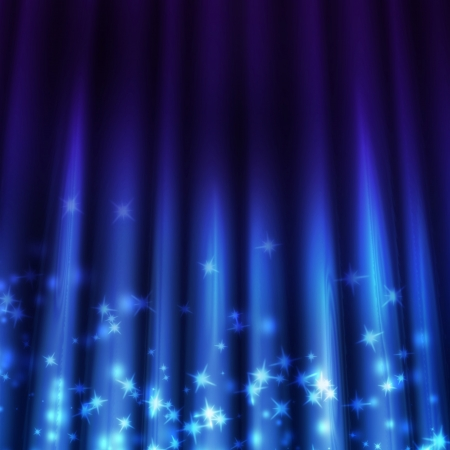 light beams: blue background with beams of light shining