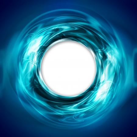 ホワイト ホールと抽象的な円形青い背景
