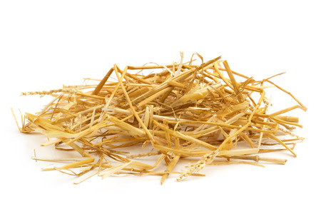 ration: close up of straw isolated on white background