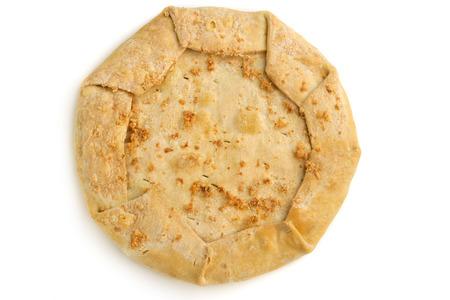 savoury: круглый чабер пирог, изолированных на белом фоне