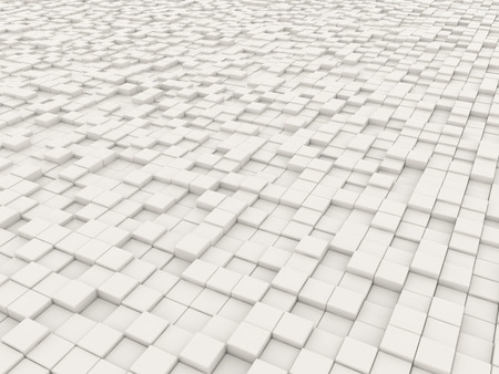 multitude: backdrop of a multitude of white blocks