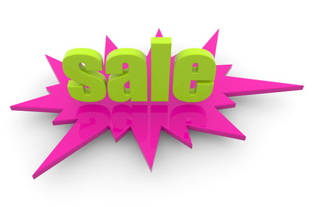 shopping sale: clearance sale label isolated on white background Stock Photo