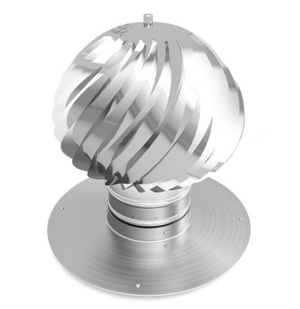 aspirator: turbine ventilator cap for chimney isolated on white background
