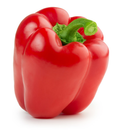 bell pepper: red bell pepper isolated on white background