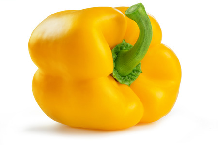 bell pepper: yellow bell pepper isolated on white background