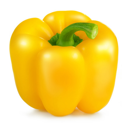 yellow bell pepper isolated on white background