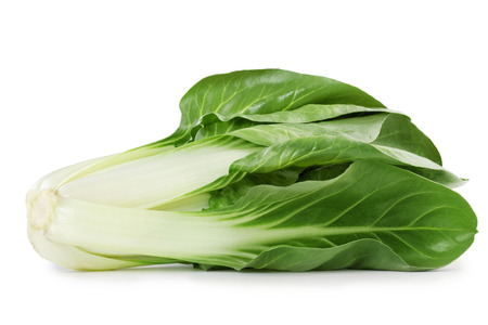 fresh swiss chard isolated on white background