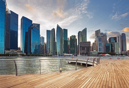 singapore city: view of central business district in Singapore Editorial