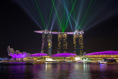 laser show: light show from famous hotel in singapore