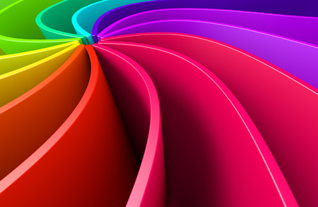spiral: abstract backdrop with colorful spiral of three-dimensional pages
