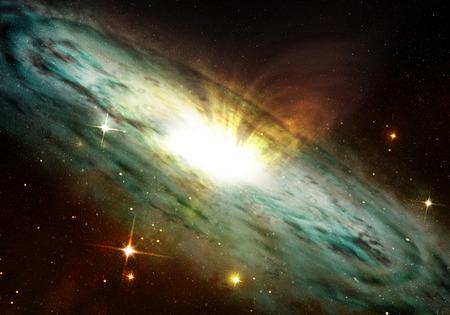 planetary nebula glowing into deep space Banco de Imagens