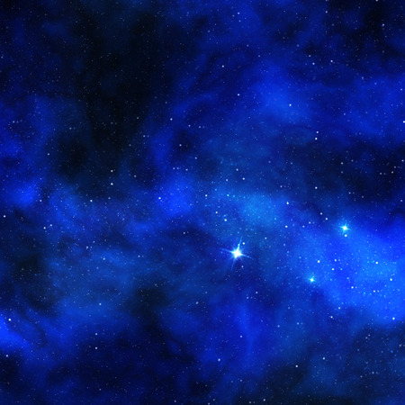 shining stars and cosmic dust in blue background photo