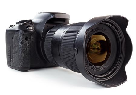 professional digital camera isolated on white background photo