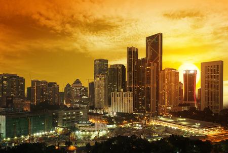 kuala lumpur city: beautiful sunset over downtown Kuala Lumpur Stock Photo