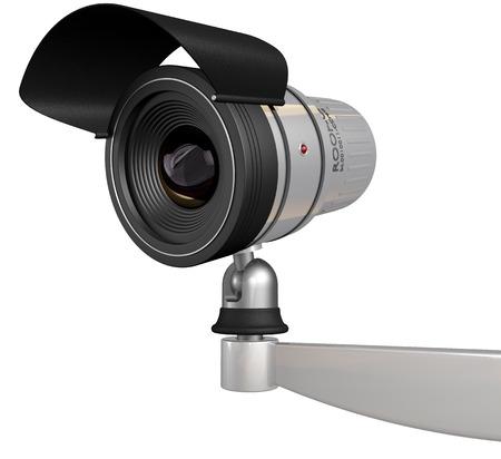big brother spy: c�maras de seguridad cctv aislado en fondo blanco