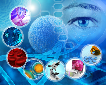 Medische wetenschap en wetenschappelijk onderzoek achtergrond behang Stockfoto - 47673474