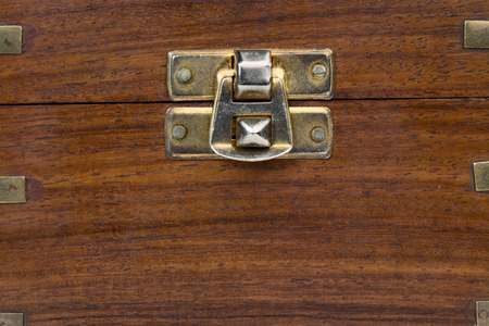 oldfashioned: close up of an old-fashioned wooden chest Stock Photo