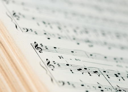 musical score: close up of an old musical score