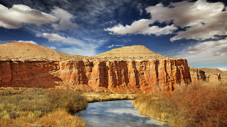limpid: limpid creek flowing through sandstone formations Stock Photo