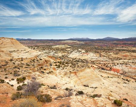 escalante: rocky landscape in Grand Staircase Escalante National Monument Stock Photo