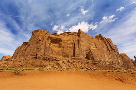 rock formation: red rock formation in monument valley, arizona