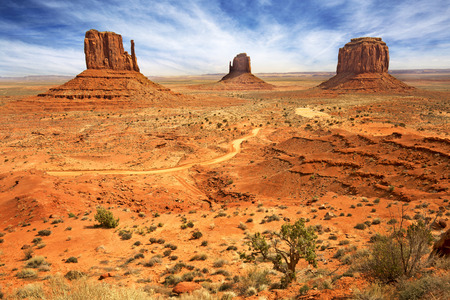 valley view: panoramic view of the monument valley, usa Stock Photo