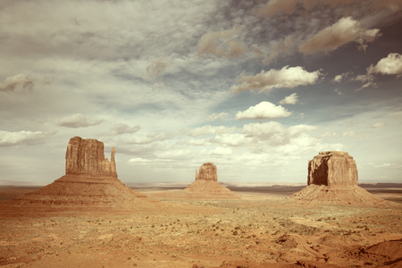 monument valley view: panoramic view of the monument valley, arizona Stock Photo