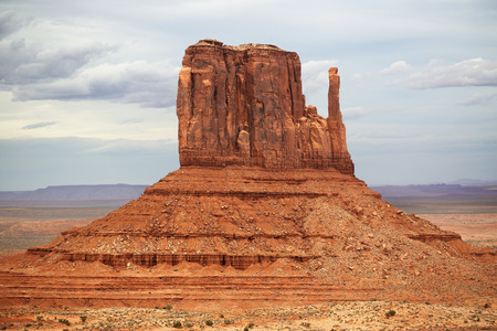rock formation: iconic red rock formation in monument valley