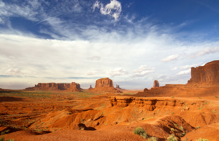 monument valley view: scenic view of monument valley in the daylight