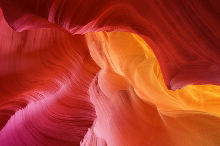 color hues of eroded stone, antelope canyon