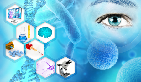 medical analysis and scientific research abstract backdrop
