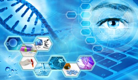scientific research: scientific research laboratory concept background 3d illustration