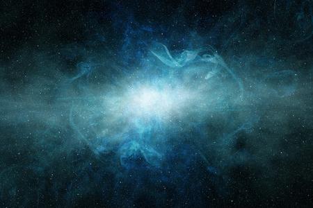 glowing light in a blue interstellar cloud Stock fotó
