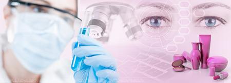 Scientific research in cosmetic industry Stock fotó