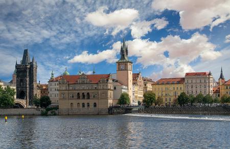Smetanas Museum and Old Town Water Tower, Prague, Czech Republic Фото со стока