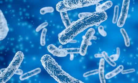 Rod-shaped bacteria in blue Stock fotó