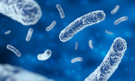 Microscopic bacteria in blue Фото со стока