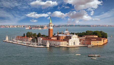 View of San Griorgio Maggiore island in venetian lagoon, Venice, Italy