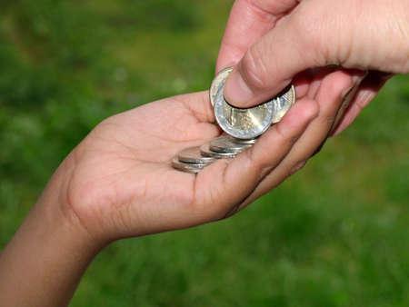 giving euro photo