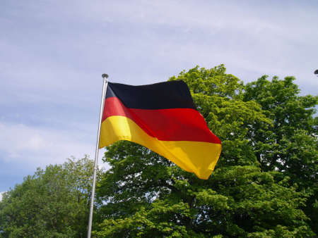 flagging: german flag Stock Photo