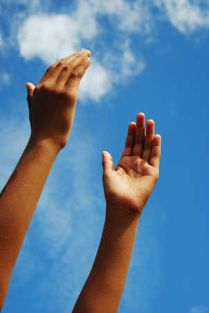 raising hands: hands in the air