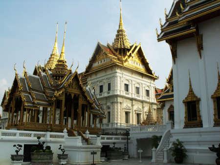 Bangkok, Thailand, January 25, 2013: Richly decorated buildings of the Royal Palace in Bangkok