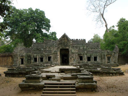 Siem Reap, Cambodia, April 8, 2016: One of the many temples in the Khmer temple complex of Angkor