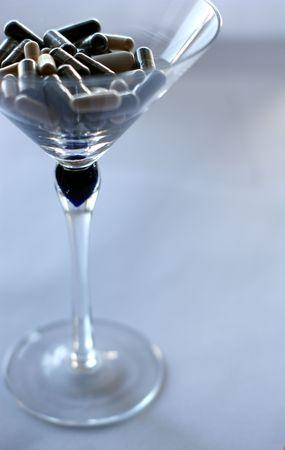 pill martini Stock Photo