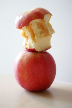 stacked apples Stock Photo