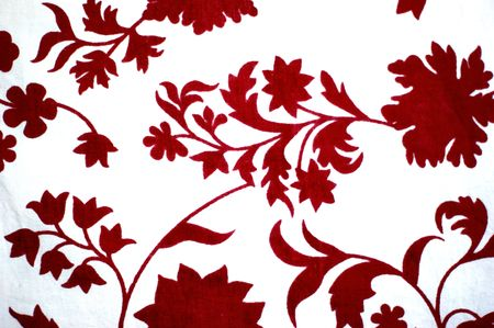Solid red floral