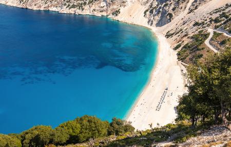 Beautiful Myrtos beach on Kefalonia island. View from above. Greece