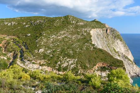 Magnificent landscape with enormous rocks in Plakaki near Agalas village on Zakynthos island, Greece. Stock Photo