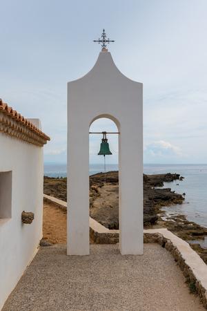 Bell tower of Greek church in Agios Nikolaos, Zakynthos island, Greece Stock Photo